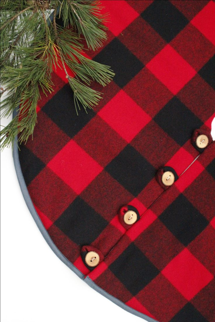 christmas tree skirt pendleton buffalo check by littleorangeroom 22000 - Christmas Tree Skirt Pattern