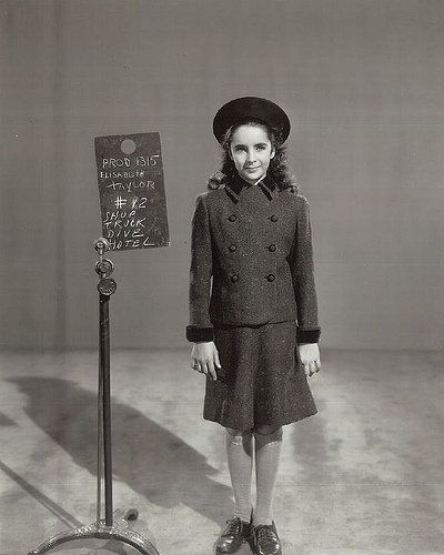 "Elizabeth Taylor wardrobe test for ""National Velvet""."