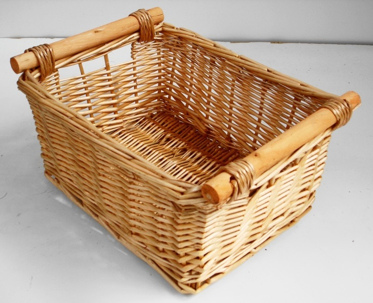 Wicker Kitchen Log Decorative Storage Basket Xmas