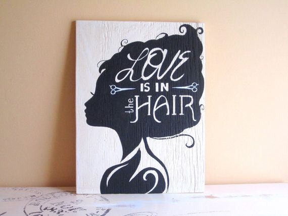 Hair dresser sign. Perfect for a bathroom or a gift to a hair grad! Hey, I found this really awesome Etsy listing at https://www.etsy.com/listing/203156650/hairdresser-sign-hair-sign-hair-salon