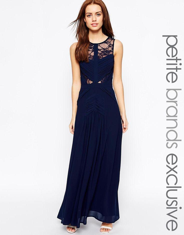 Image 1 ofJarlo Petite Delilah Grecian Lace Insert Maxi Dress