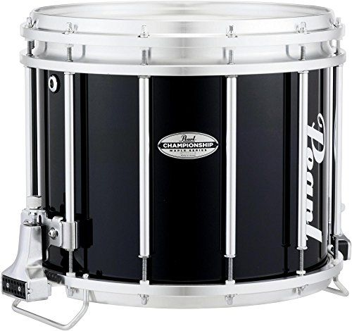 Pearl+Championship+Maple+FFX+Marching+Snare+Drum+14+x+12+in.+Midnight+Black