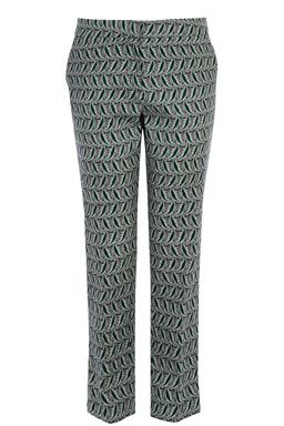 This pair of smart tailored trousers features a mid-rise, zip fly fastening, two side pockets, skinny cut and all-over leaf print. Height of model shown: 5ft 11 inches/180cm. Model wears: UK size 10.Fabric: Main: 98.0% Cotton