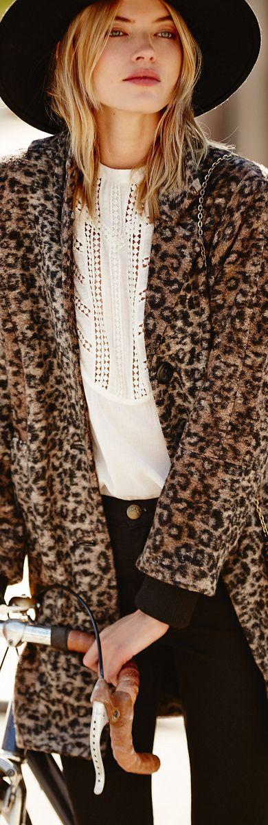 An American Girl- Free People ● Channeling Leopard Coat- ♔LadyLuxury♔