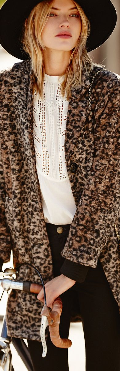 An American Girl- Free People ● Channeling Leopard Coat- ♔LadyLuxury♔