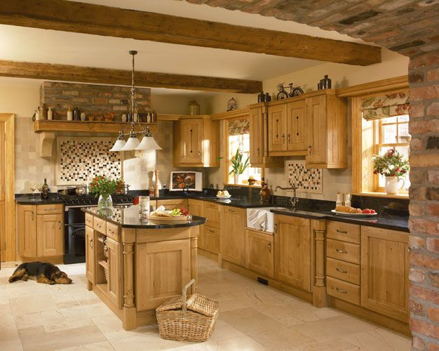 Oak Kitchen. If I'm going to have an oak kitchen and I don't want to re-do the whole thing, keeping this style in mind...