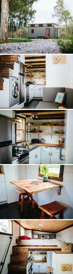 The Chimera tiny house by Wind River Homes. A 192 sq ft tiny house on wheels priced at $84,000