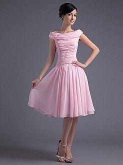 Bruna - Γραμμή Α Μέχρι το Γόνατο Σιφόν Φόρεμα Κόμμα - EUR 81,77€