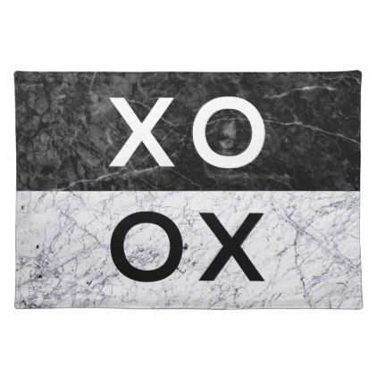 XO XO CLOTH PLACEMAT - minimal gifts style template diy unique personalize design