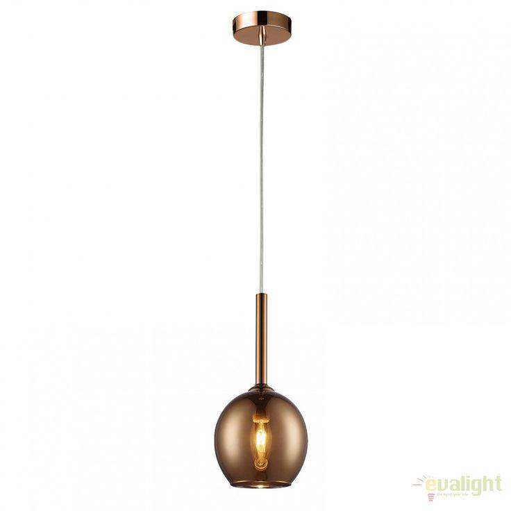 Pendul design modern diam.15cm MONIC MD1629-1 COPPER - Corpuri de iluminat, lustre, aplice