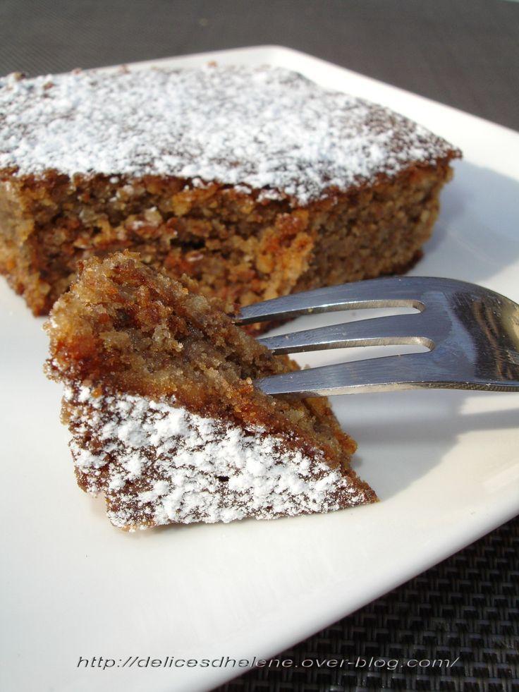 Un gâteau tout noix et bien fondant...