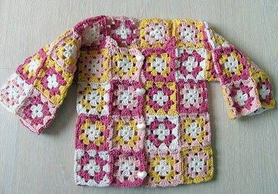 Purple crafts: Isoäidin neliöt - Granny squares