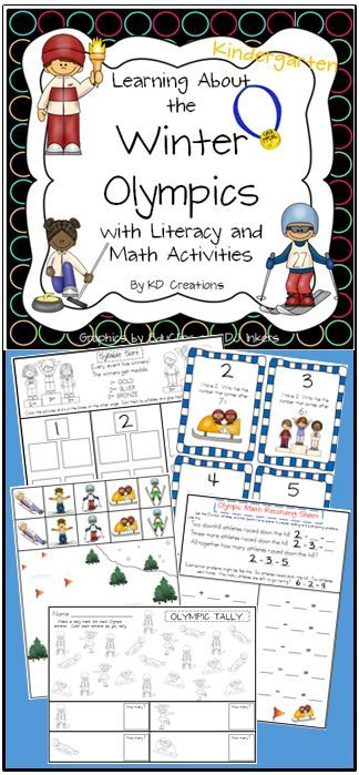 Have fun learning about the Winter Olympic Games while practicing reading and math skills!