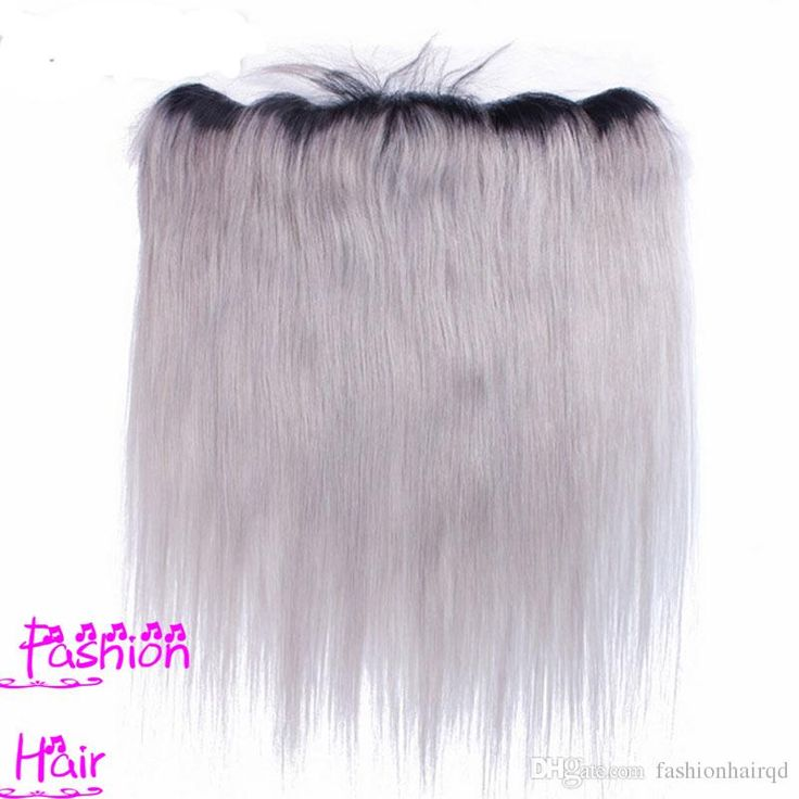 Lace Front Weave Closure Human Hair Ombre Lace Frontal Closure 13*4inch T1b Grey Straight Brazilian Peruvian Indian Malaysian Virgin Hair Two Tone Ear To Ear Closure Closure Lace From Fashionhairqd, $67.23| Dhgate.Com
