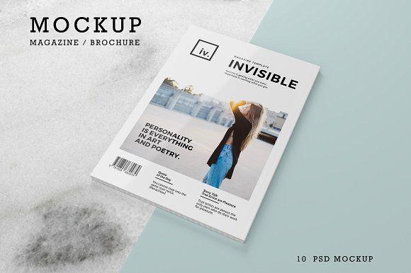 Brochure / Magazine Mockups  by Craftmaster Media on @creativemarket