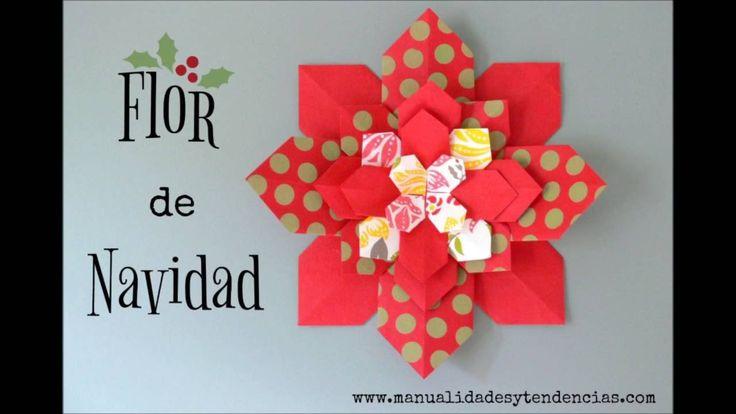 Flor de Navidad de papel / Christmas paper flower