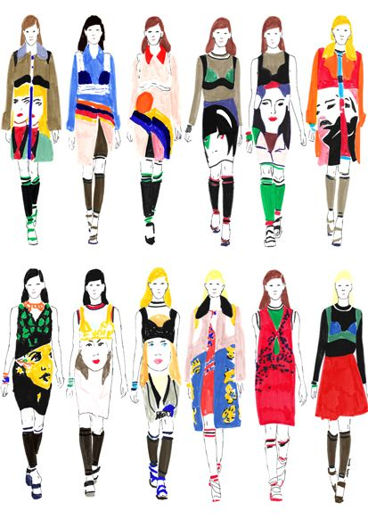 Janelle Burger fashion illustrations