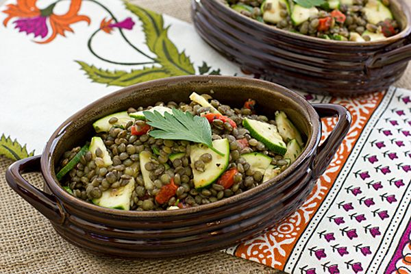 herbed french lentil salad - good weeknight meal