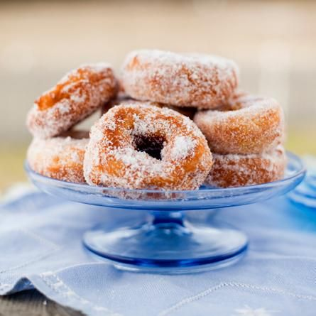 """Munkar - Munkkeja - Doughnuts. - May Day in Finland means mead, """"monks""""(doughnuts) and struvor, ie. fritters. The """"monks"""" are pastries fried in oil, sprincled with sugar in a bowl and eaten warm accompanied by cold sparkling mead."""