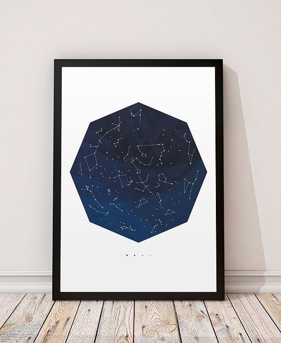 Constellation prin, Space art, Stars chart map, Space decor, Constellations decor, Galaxy print, Galaxy decor, Astronomy art, Astrology art