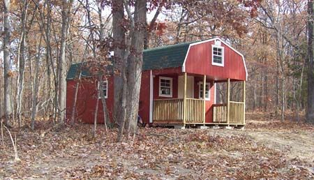 Hunting Cabins, Made in Missouri, Portable Storage Buildings, Rent to Own