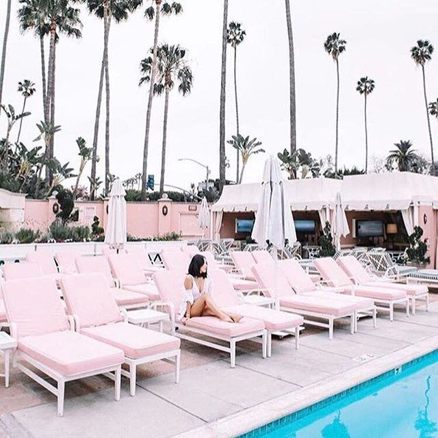 PARADISE | 🌴 Image via @twobirdstalking | #paradise #palmsprings #LA #pink #pool #holiday #honeymoon  #Regram via @chosenbyoneday