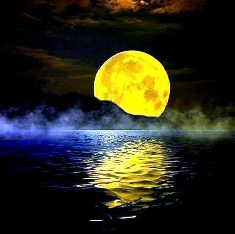 Épinglé par SYLVIE sur LUNE   Clair de lune, Coucher de ...