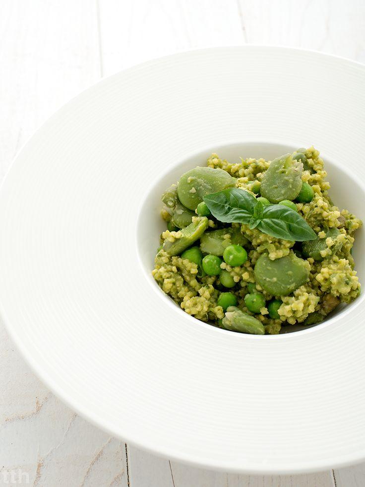 true taste hunters - kuchnia wegańska: Kasza jaglana na zielono (wegańska, bezglutenowa)