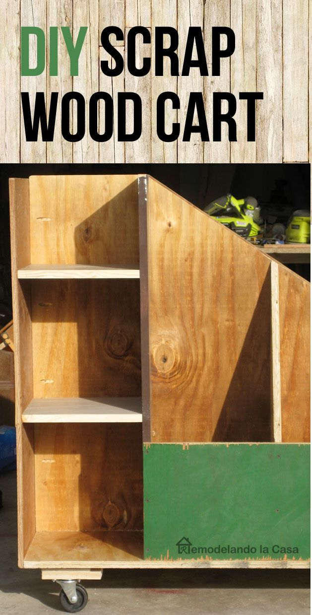 How to build a cart to store  Scrap Wood. - Garage Organization.