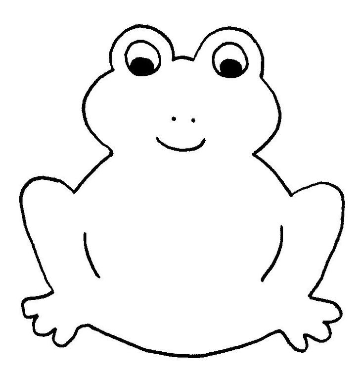 Frog template for princess party game