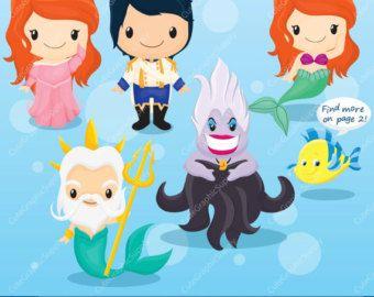 Little Mermaid Clipart Mermaid Clipart Princess by Cutesiness