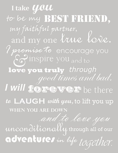 Really like these vows