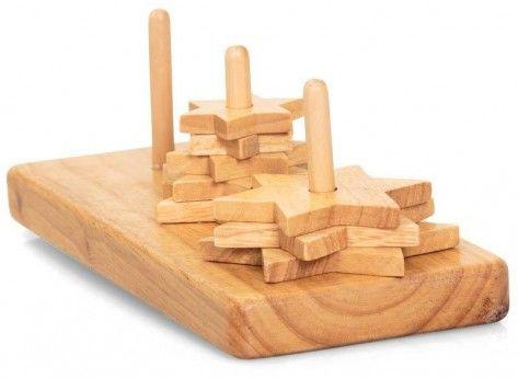 Puzzle turnul din hanoi - Mindblower Un cadou care pune mintea la treaba. Gaseste alte cadouri inedite si inteligente pe Mindblower.ro