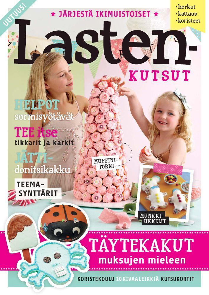 Uutuus! #LASTENKUTSUT - Monipuolinen paketti juhlien järjestäjälle!  Lastenkutsut sisältää runsaasti vinkkejä ja käytännön neuvoja onnistuneiden #lastenkutsujen järjestämiseen.  Tee itse näyttävät #synttärikakut, suolaiset ja makeat pikku purtavat ja terveelliset naposteltavat. Ammattilaisten vinkeillä onnistut. 68 sivua!  Hinta vain 7,90 € - hae lähimmästä Lehtipisteestä!  Tai tilaa kotiisi puhelimella (08-5370370) tai sähköpostilla (tilaajapalvelu@kolmiokirja.fi).