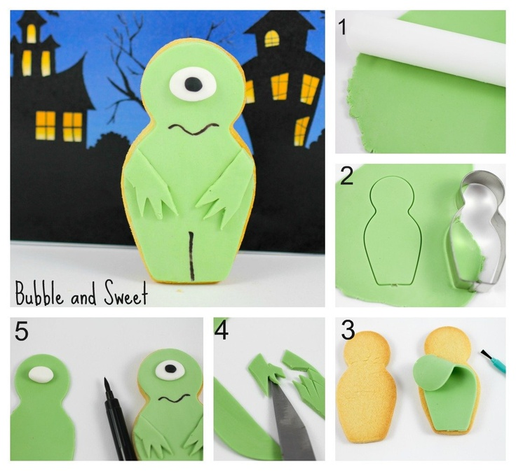 Monster Babushka cookie tutorial