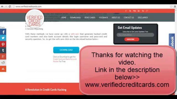Free credit card numbers reveal 2015 credit card numbers