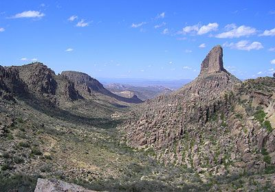 Weavers Needle in the Superstition Mountains