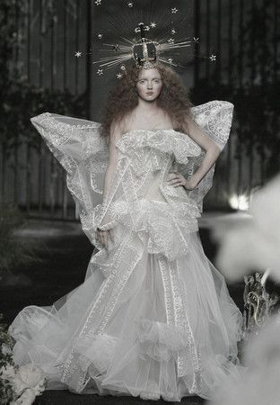 ♥ Romance of the Maiden ♥ couture gowns worthy of a fairytale - Lily Cole | Christian Dior Haute Couture