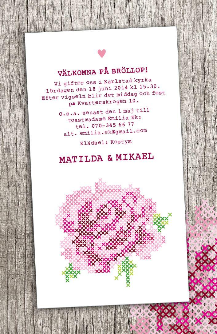 Pappersboden Anna Göran Design: Bröllop