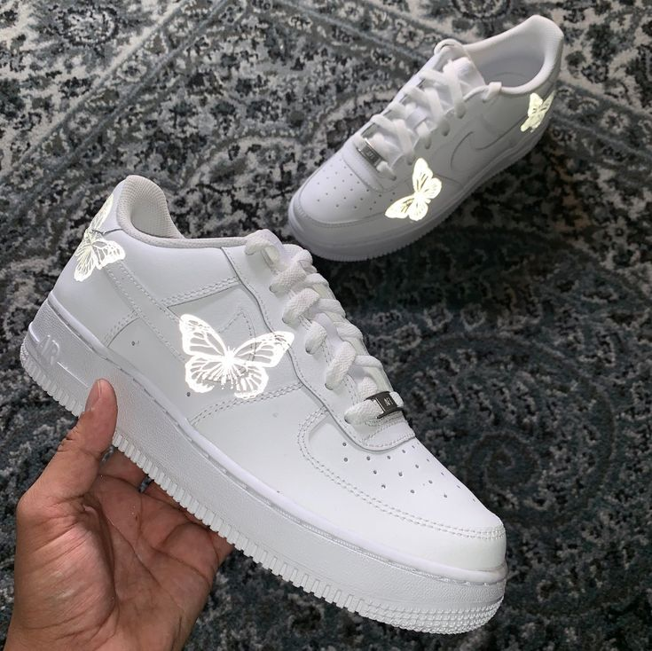 3M Limited HD Reflective Butterfly Air Force 1   – Shoes