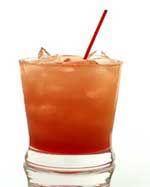 Malibu Bay Breeze --1 1/2 oz Coconut Rum     2 oz. Cranberry Juice  2 oz Pineapple Juice
