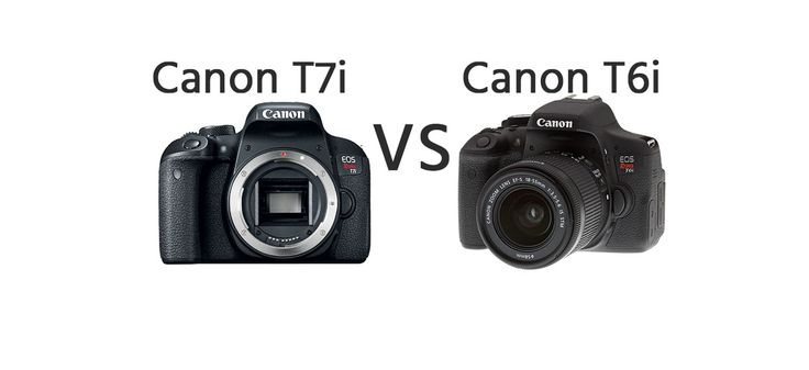 Canon T7i vs Canon T6i Comparison   https://dslrcamerasearch.com/canon-t7i-vs-canon-t6i-comparison/ Canon T7i vs Canon T6i camera comparison. These two models descend from the same camera line which is the Rebel Series of Canon and they have been man...  https://dslrcamerasearch.com/canon-t7i-vs-canon-t6i-comparison/