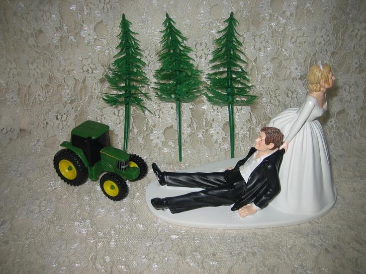 WEDDING FARMER JOHN GREEN FARM TRACTOR CAKE TOPPER | eBay