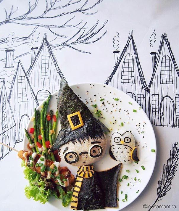 Samantha Lee fait du food art pour ses enfants et devient une star du web Samantha Lee du food art pour ses enfants 1