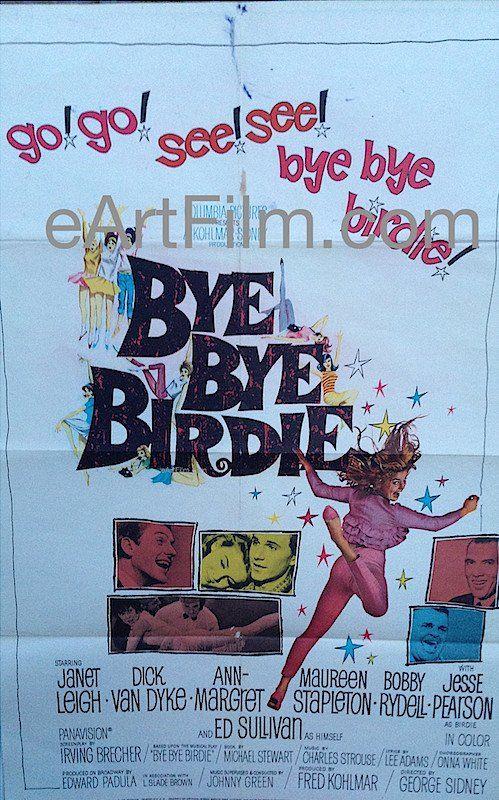 Happy Birthday #FrankAlbertson https://eartfilm.com/search?q=frank+albertson #actor #acting #Psycho #Hitchcock #ByeByeBirdie #ItsaWonderfulLife #Broadway #theater  Bye Bye Birdie-1963-27x41-Ann Margaret-Janet Leigh-Dick Van Dyke