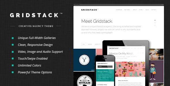 cool Download GridStack - Responsive Agency WordPress Theme