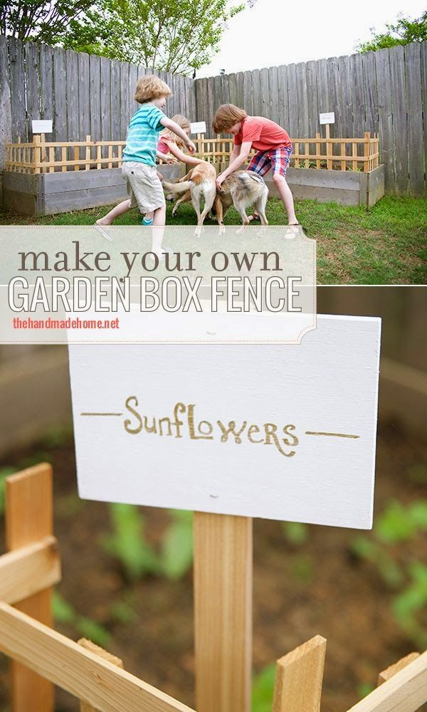 make your own gardenbox fence great idea for keeping dogs