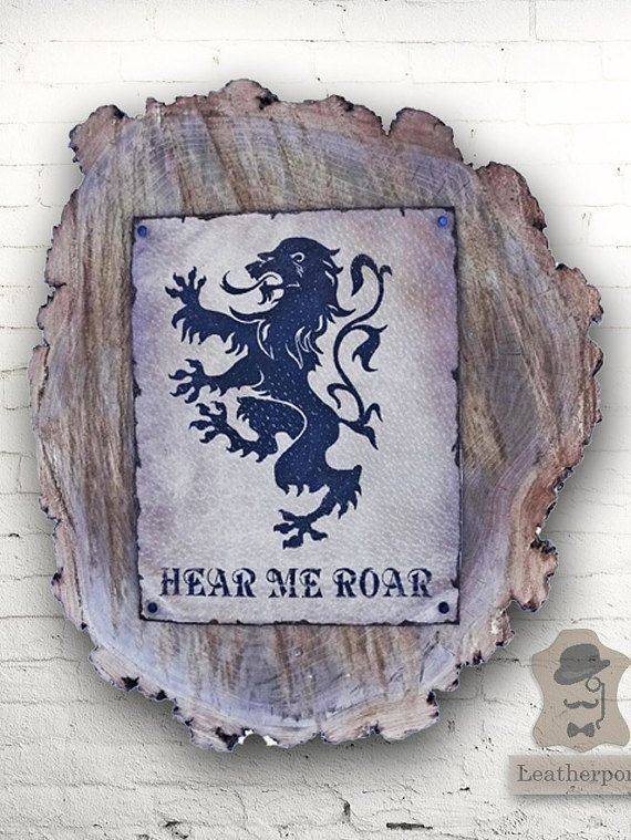 Lion Hear Me Roar Leather Gift Winter Is Coming Tyrion Lannister Season 6 Game Of Thrones Gifts. Movies decorative logs hbo shows games of throne. Gameofthrones, gameof thrones, game of throwns. Cersei and jaime lannister. Tywin and kevan lannister. Joffrey lannister vs jon snow.