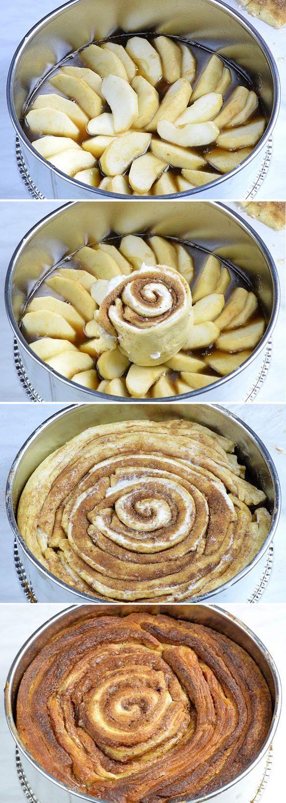 Upside Down Apple Cinnamon Roll CakeDenise Johnson