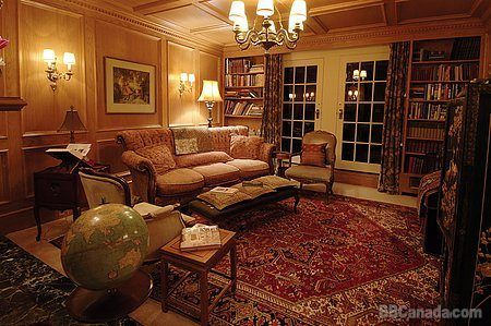 The library at the Villa Marco Polo